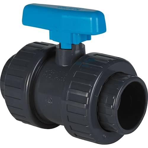 Swim & Fun Avstängningsventil 2-vägs limrördel 50 mm PVC