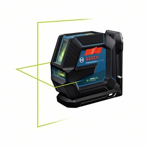 Bosch Linjelaser grön GLL 2-15/LB10/clip/case