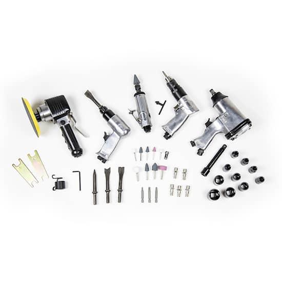 DUAB Tryckluftsdriven verktygssats 50 delar