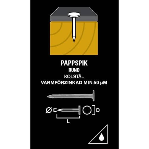 Gunnebo Fastening Pappspik vfz 25-2,5 1000-pack