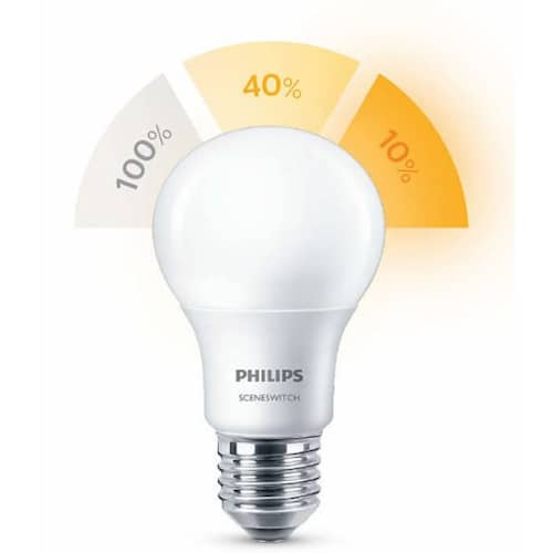 Philips Lampa 3STEG LED 8-5-2W E27 matt