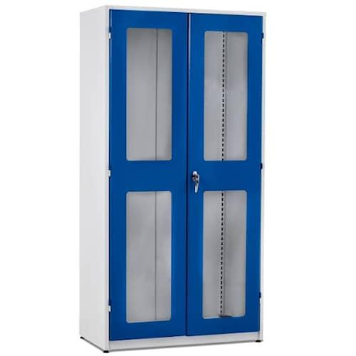 GBP Verkstadsskåp med plexiglasdörrar 1020x540x2000mm