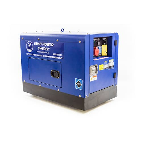 DUAB-POWER Elverk MDG7500S-3 3-fas diesel tystgående