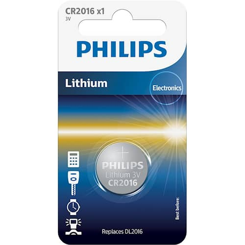 Philips Battericell Lithium CR2016