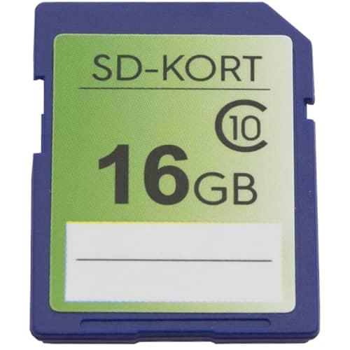 Minneskort SD-kort 16 GB