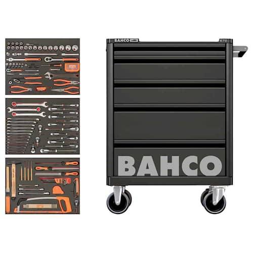 Bahco Verktygsvagn 1472K5 Svart med 5 lådor och 158 verktyg
