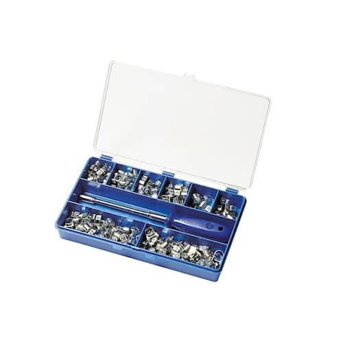 ABA Slangklämmor Sortimentslåda Mini S10 120-pack