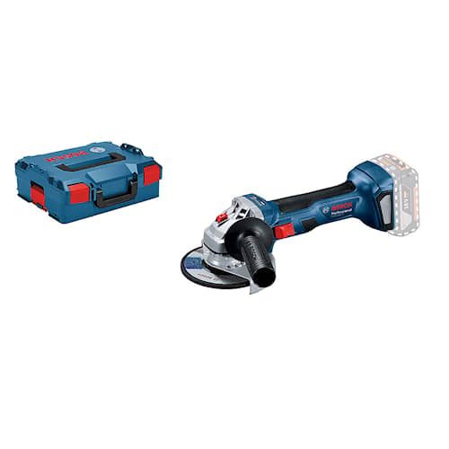 Bosch Vinkelslip GWS 18V-7 125mm L-BOXX utan batteri & laddare