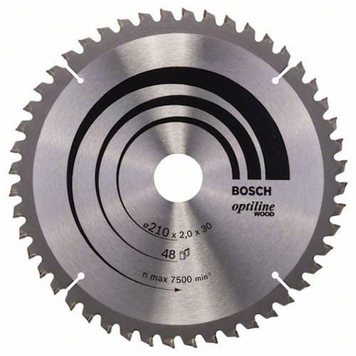 Bosch Sågklinga Optiline Wood 210x2,0x30mm 48T