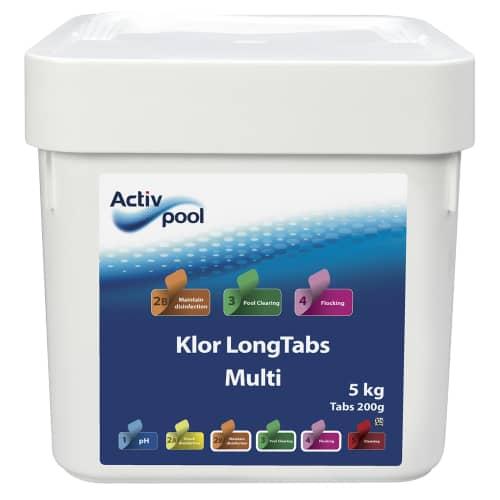 Activ Pool Pool Klor LongTabs Multi 200 gram 5 kg