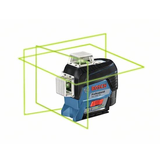 Bosch Gll3-80Cg M/Bm1/12V/Laddare Cirkellaser