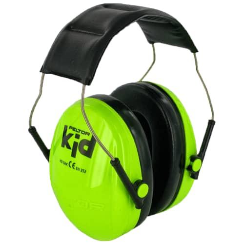 3M Peltor KID hörselskydd för barn, neongrön, H510AK-442-GB