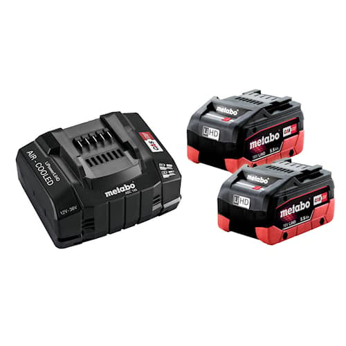 Metabo Batteri & laddare 18V 2XLiHD 5.5Ah BLACK EDITION