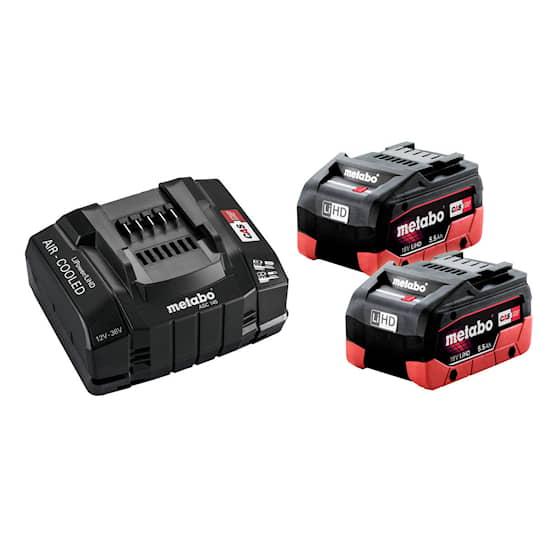 Metabo Batteri & laddare 18V 2XLiHD 5.5Ah