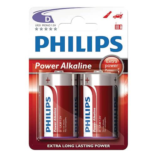 Philips Batteri Philips D 1,5V LR20 2-pack