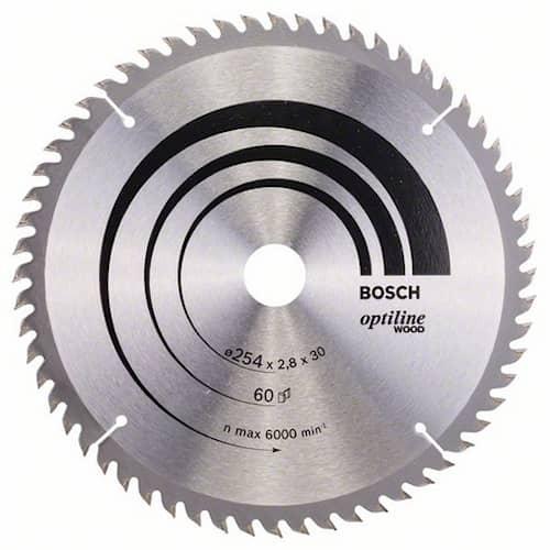 Bosch Sågklinga Optiline Wood 254x2,8x30mm 60T