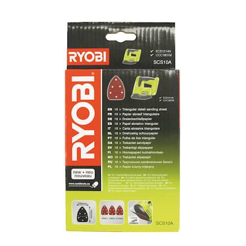 Ryobi SCS10A Slippapper Triangel 100x140mm 6H 10-pack
