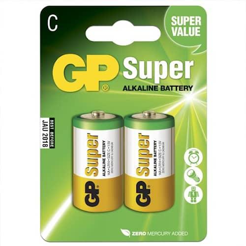 GP Batteries Batteri Alkaline C/LR14 2-pack