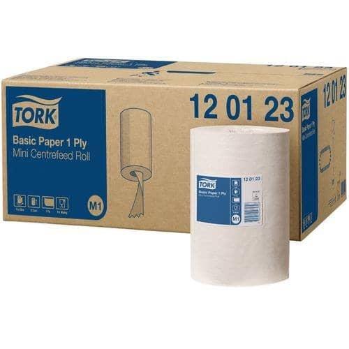 Tork Torkpapper M1 Basic Universal, 120123, 1 lager, vit 11x120m