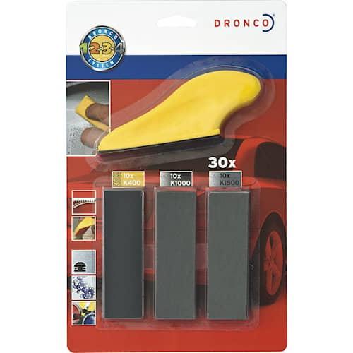 Dronco Slipset Fingerslip 91x27 för bil set med 30 ark
