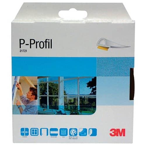 3M Tätningslist P-profil EPDM-gummi 6 m Brun