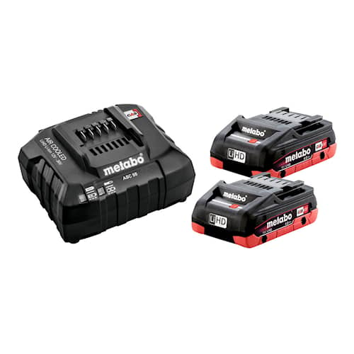 Metabo Batteri & laddare 18V 2XLiHD 4.0Ah BLACK EDITION