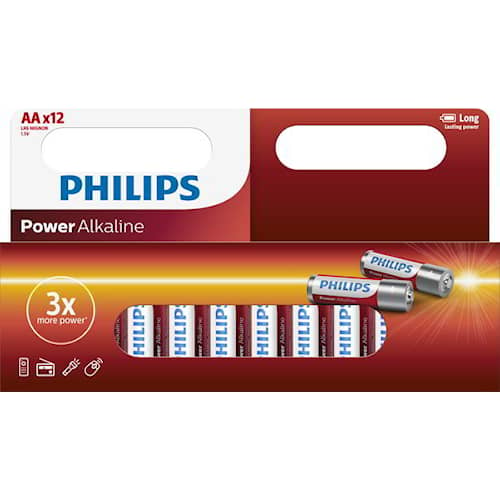 Philips Batteri Power AA/LR6 12-pack