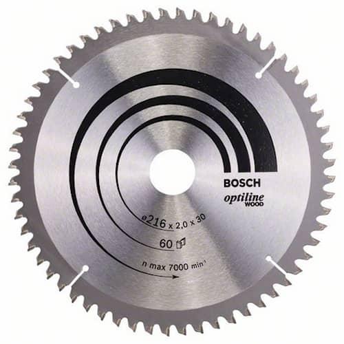 Bosch Sågklinga Optiline Wood 216x2,0x30mm 60T