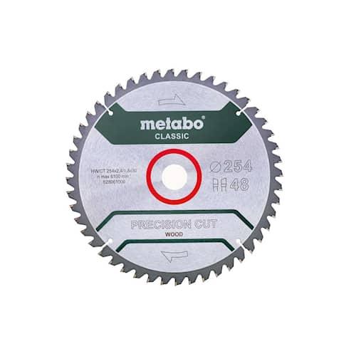Metabo Sågklinga HM Precision Cut Wood - Classic 254x30, Z48 WZ 5°neg.