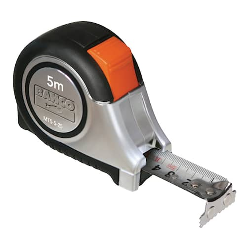 Bahco Måttband MTS-5-25-E 5m 14mm rostfr mm/tum