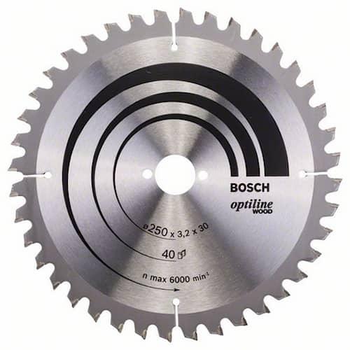 Bosch Sågklinga Optiline Wood 250x3,2x30mm 40T