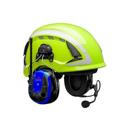 3M Peltor WS Alert XPI hörselskydd med hjälmfäste, blå, App, Bluetooth, MRX21P3E3WS6
