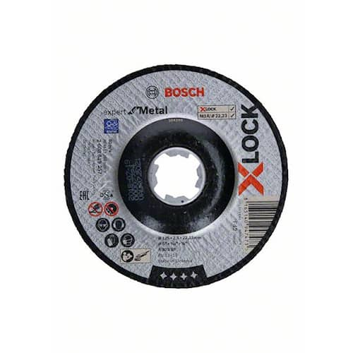 Bosch Kapskiva X-LOCK Expert for Metal 125×2,5×22,23 mm nedsänkt sågning
