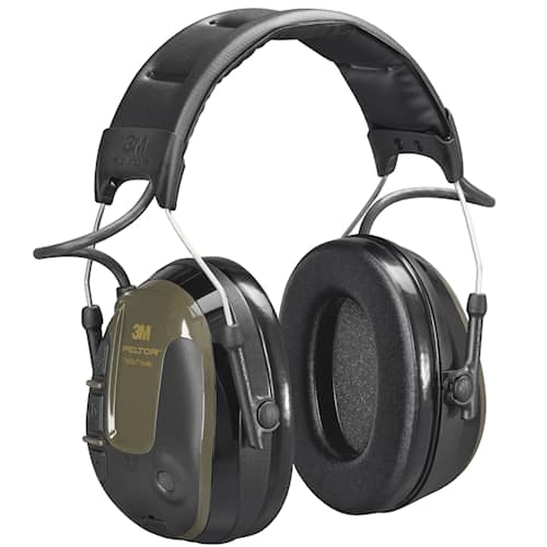 3M Peltor ProTac Hunter hörselskydd med hjässbygel, 26 dB, grönt, MT13H222A
