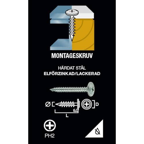 Gunnebo Fastening Montageskruv 4,8x75 mm Elförzinkad 250-pack