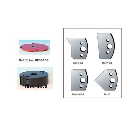 Toolbox Fönsterfrässet TB90 manuell inkl. stål och säkerhetsstål
