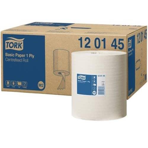 Tork Torkpapper M2 Basic Universal, 120145, 1 lager, vit 6x300m