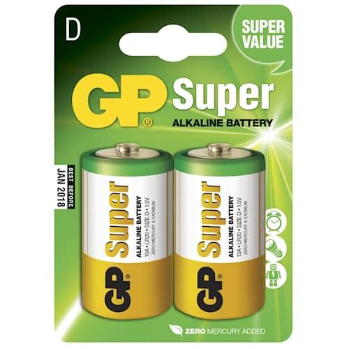 GP Batteries Batteri Alkaline D/LR20 2-pack