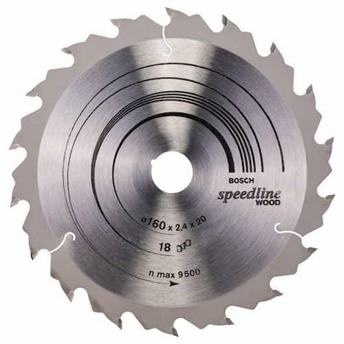 Bosch Sågklinga Speedline Wood 160x2,2x20mm 18T