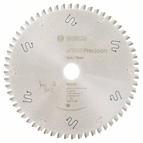 Bosch Sågklinga Top Precision Wood 254x2,3x30mm 60T