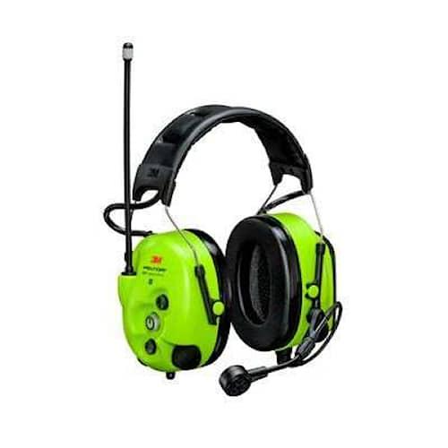 3M Peltor WS LiteCom III Hi-Viz hörselskydd med hjässbygel