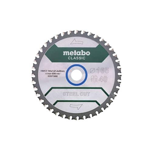 Metabo Sågklinga Steel Cut - Classic 165x20 Z40 FZFA/FZFA 4°