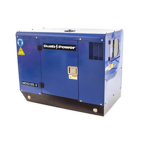 DUAB-POWER Elverk MDG12S-3 3-fas diesel tystgående