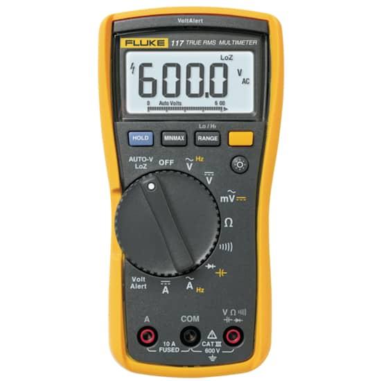 Fluke Digital multimeter FLUKE 117 TRMS AC 6000 Siffror 600 VAC 600 VDC 10 ADC