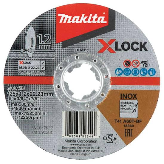 Makita Kapskiva X-LOCK 125x1,2x22,23mm Inox