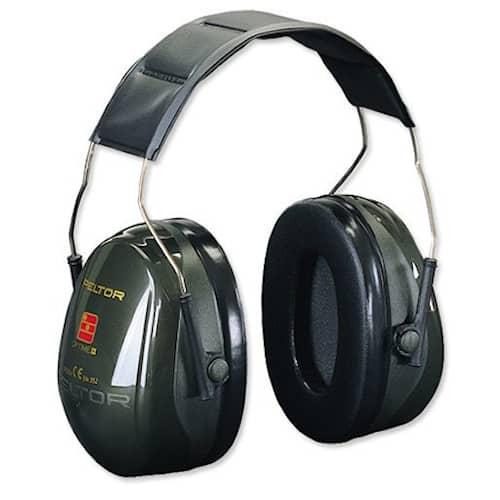 3M Peltor Optime 2 hörselskydd med hjässbygel, grön, H520A-407-GQ