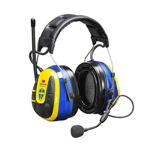 3M Peltor WS Alert XPI hörselskydd med hjässbygel App/Gul/Blå/Gel, MRX21P3E3WS6-8