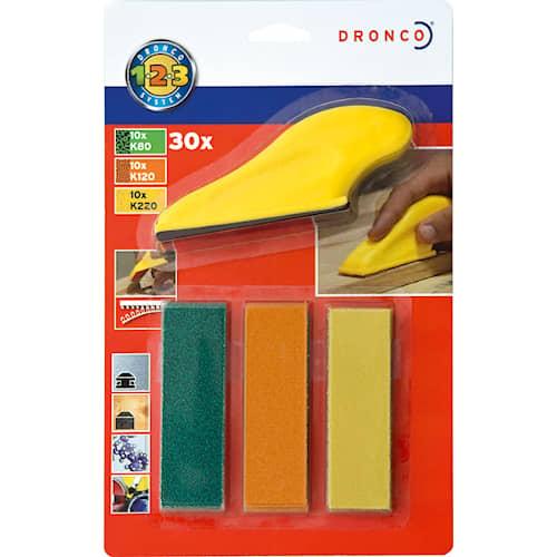 Dronco Slipset Fingerslip 91x27 set med 30 ark