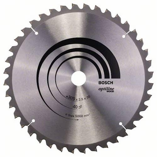 Bosch Sågklinga Optiline Wood 305x2,5x30mm 40T