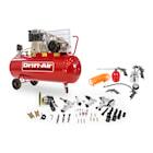 Drift-Air Kompressorpaket CT 5,5/580 med 5 tryckluftsmaskiner, 45 tillbehör samt 5 tryckluftsverktyg